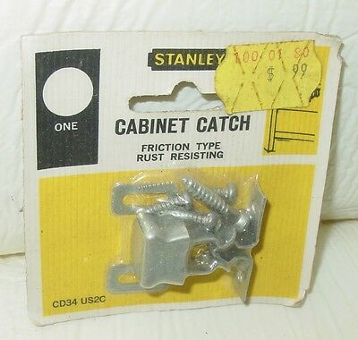 Vintage Stanley Hardware Cabinet Cupboard Hoosier Friction Door Catch CD34 US2C