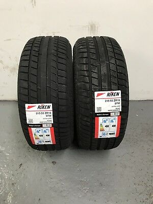 2 x 215/55 ZR16 Riken (Made by Michelin) 97W Extra Load 215 55 16 - TWO TYRES