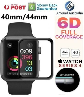 Apple Watch Series 4  3D Tempered Glass Screen Protector Full Edge 40mm /44mm