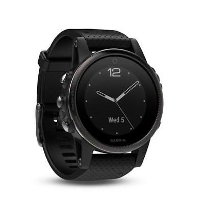 Garmin Fenix 5S Wrist HR Sports Watch Multisport Activity Silver with Black Band