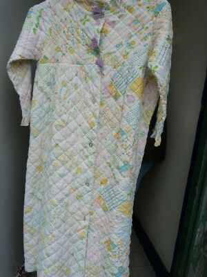 LADIES VINTAGE DRESSING gown size 12-14. Sandra Partridge. Made in ...