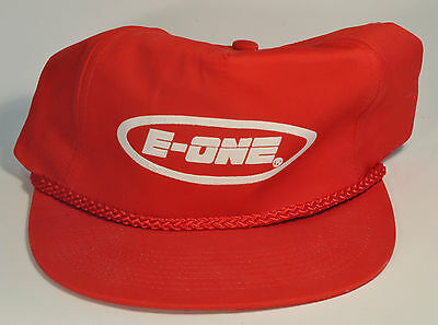 E-One Fire Trucks Firefighters Red & White Snap-back Braided Rope Cap Hat