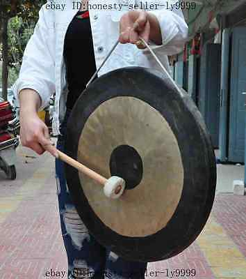 old chinese Percussion instrument bronze copper Large gong Ethnic Musical Gongs