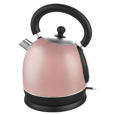 Edelstahl Wasserkocher Retro Design - 1,7 Liter 1850-2200 Watt in Rose-Gold