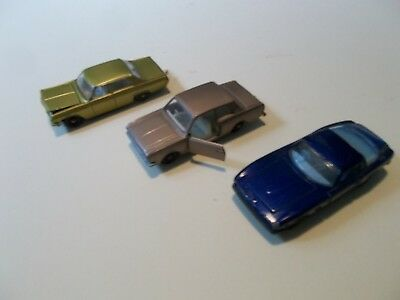 Matchbox series No36 Opel and No25Ford Cortina and No14 Iso Grifo model cars