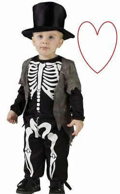Skeleton Outfit Halloween.Little Skeleton Outfit Fancy Dress Costume Halloween Infant Cute