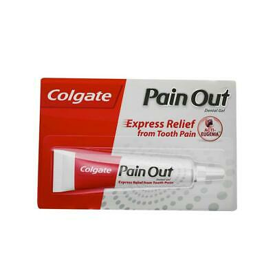 2 X Colgate Pain OUT Dental Gel 10 gm Express Relief Tooth Pain Oral Dental Care