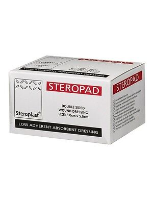 5 x Low Adherent Dressing Pad Double Sided - 5cm x 5cm- Steropad - NHS Quality