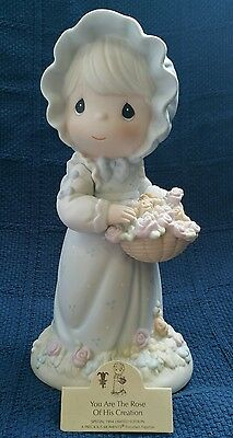 """Precious Moments 9"""" Limited Edition Rare - You Are The Rose Of His Creation 1994"""
