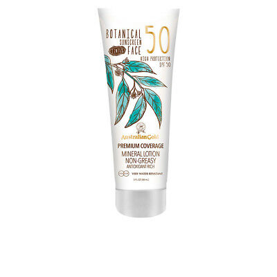 Cuidado Solar Australian Gold unisex BOTANICAL SPF50 tinted face lotion 89 ml