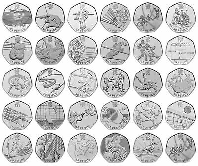 Rare UK London Olympic 2012 50p Coins Fifty Pence Circulated Set Judo, Sports