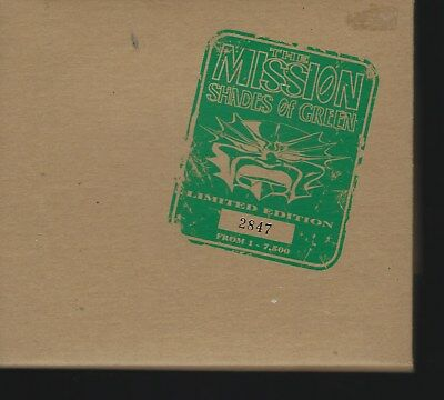 """THE MISSION """"Shades Of Green"""" Limited Edition CD nummeriert"""