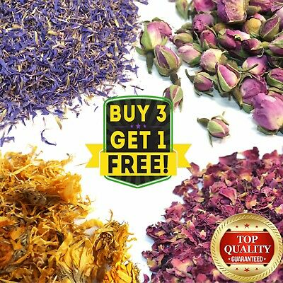 Dried Flowers & Petals 61+ Types! Rose Lavender Jasmin Chamomile Cornflower etc.