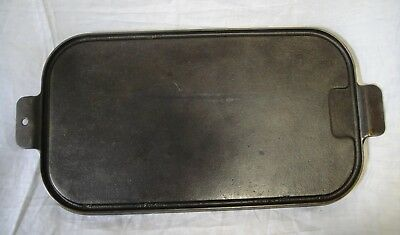 Vintage Unmarked (looks like Wagner) Cast Iron 17-Inch Griddle~Cleaned &Seasoned