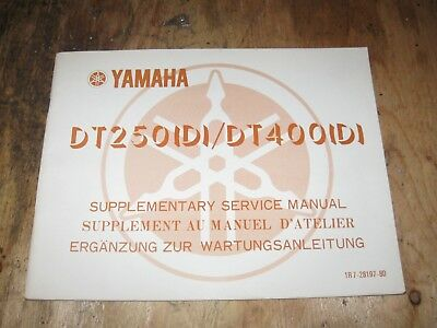1977 Yamaha Dt 250/400(D) Supplementary Service Manual Bilingual Freeship Us+Can