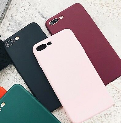 IPHONE 6 7 8 X PLUS Case Slim Cover SMOOTH Design Soft TPU Silicone CANDY-COLOR