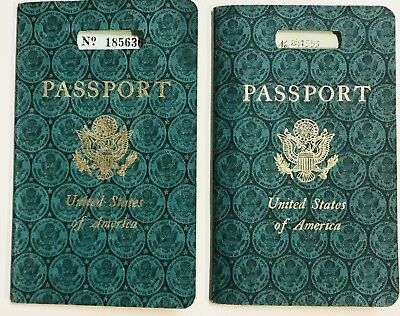 2 U.S. UNITED STATES PASSPORT 1956 & 1957 Housewife from NEW YORK NY America