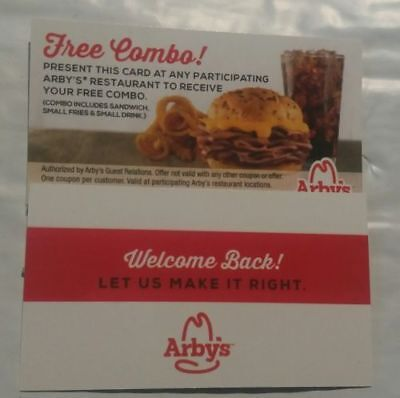 20 Arby's Combo Meal Cards