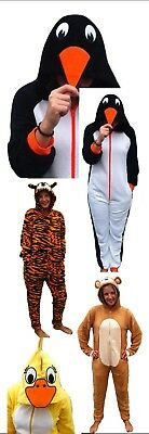 Unisex All-In-One-Pyjamas-Fleece-Suit-1ONESIE-Womens-Mens-Novelty-Animals,Hooded