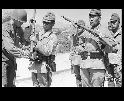Japanese Surrender Weapons PHOTO Rifles Soldiers, World War 2 WW2 US Army 1945