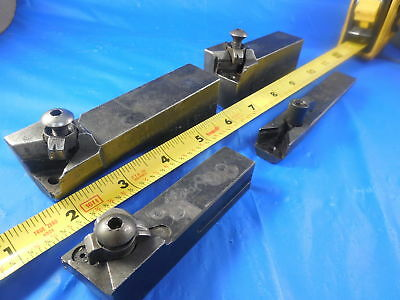 Four Modified Insert Lathe Turning Tool Machine Tooling Holders All Parts There