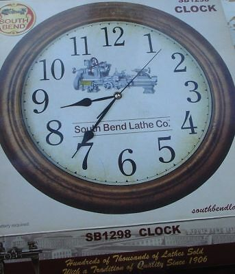 VINTAGE Advertising South Bend Lathe Co IN Clock AntiquE  TOOLROOM