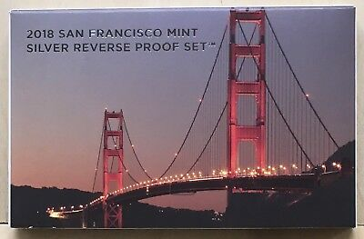 2018 S San Francisco Mint Silver Reverse Proof Set, Limited Mintage