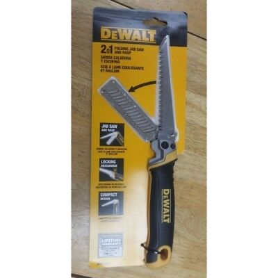 DEWALT DWHT20123 2-in-1 Folding Jab Saw/Rasp Blade Combo