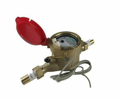 "DAE MJ-50R Lead Free Hot Water Meter,1/2"" NPT Couplings, Pulse Output+Gallon"