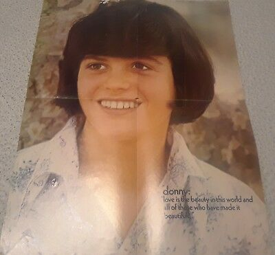 Donny Osmond 4 Page Poster Clipping From A Magazine 70's Cute Smile Osmonds