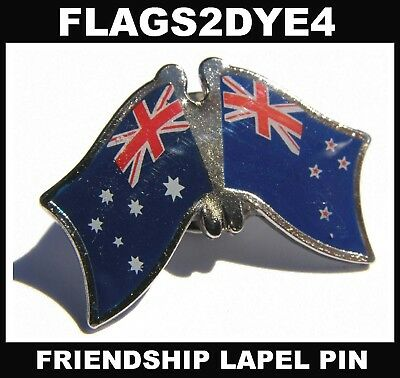 Australia flag New Zealand flag lapel pin badge INCLUDES AUSTRALIA POST TRACKING