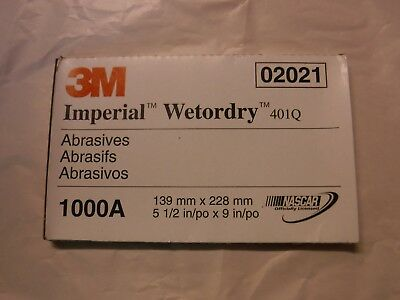 3M 02023 Imperial Wetordry 5-1//2 x 9 1500A Grit Sheet