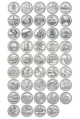 2010 to 2018 America the Beautiful National Park Quarters - All 44!!