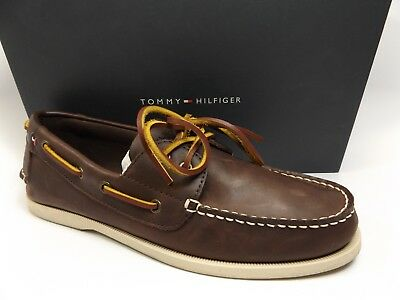 5f78f127a9c70 Tommy Hilfiger Bowman Boat Shoes Dark Brown MEN S SZ 10.0 M PRE OWNED D8185