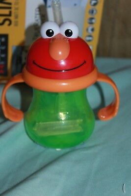 Children's Elmo Sippy Cup With Straw Brand New Great Gift Item