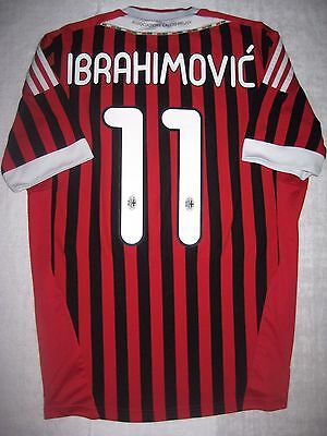 finest selection d1f62 71c16 2011 ADIDAS AC Milan Zlatan Ibrahimovic Jersey Calcio Maglia Manchester  United