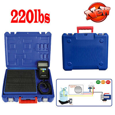 220lbs Electronic Refrigerant Charging Scale Digital For HVAC Portable with Case