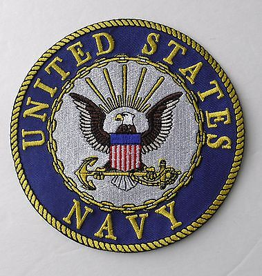 Us Navy Usn Large Embroidered Patch 5 Inches