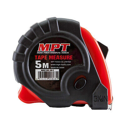 Tape Measure 5m PRO MPT Metric Imperial Trade Quality Ergo Heavy Duty 5Mtr 5
