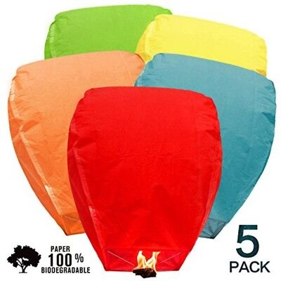Sky Lanterns Party Light Halloween Birthday Weddings Events Floating Candle 5 pc