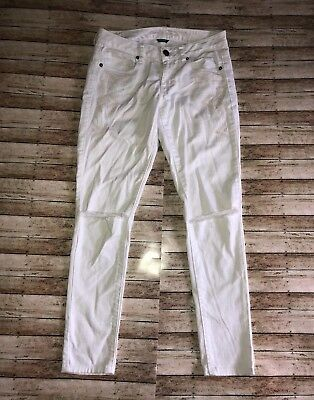 c947709917fc98 American Eagle Women's Skinny White Embroidered Aztec Print Stretch Jeans  Sz 4
