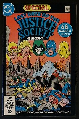 LAST DAYS OF THE JUSTICE SOCIETY SPECIAL 1 VF+ Thomas Ross JSA DC Comics 1986