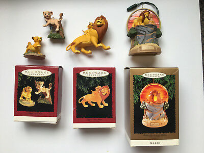 Hallmark Keepsake Collection The Lion King Christmas Ornaments LOT