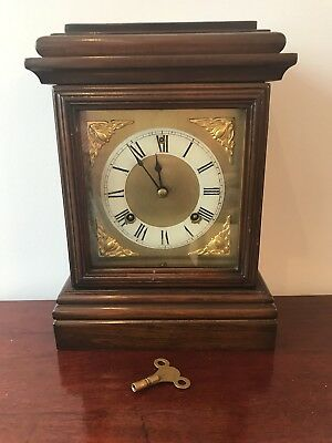 Late 19th Century Ansonia Clock Company USA Mahogany Cased Mantle Clock