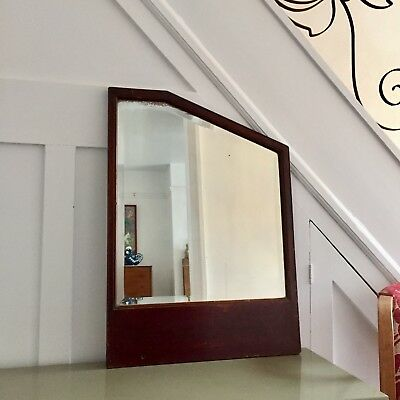 Antique Victorian Wall Mirror | Large Bevelled Edge Mirror Victorian Wall Panel