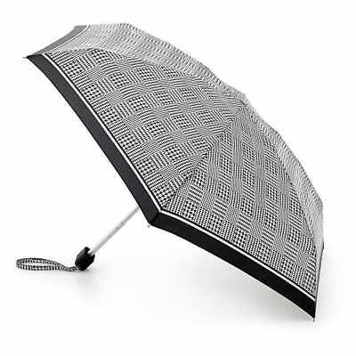 *brand New* Fulton - Tiny-2 Classic Compact Folding Umbrella - Black/white