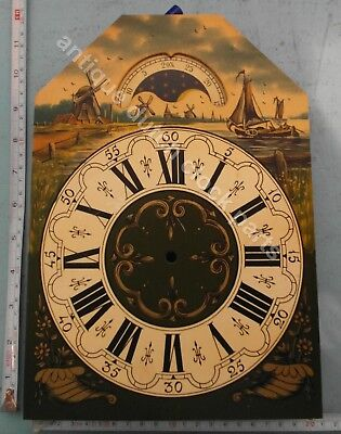 Handpainted Replacement Dial For Large Dutch Friesian Tail Wall Clock 1
