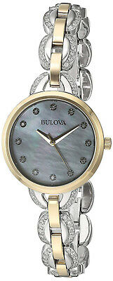 Bulova 98L206 Mother of Pearl Dial Two Tone Stainless Steel Women's Watch
