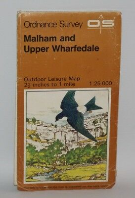 Ordnance Survey Outdoor Leisure Map - Malham and Upper Wharfedale - 1975