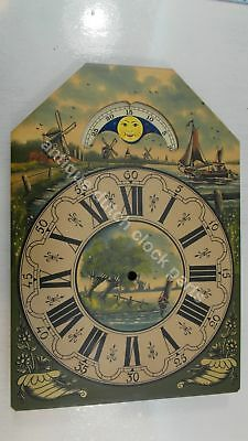 Handpainted Replacement Dial For Large Dutch Friesian Tail Wall Clock 7